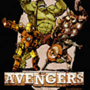The Old Time-y Avengers Poster by Brian Kesinger
