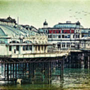 The Old Victorian West Pier Poster