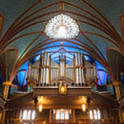 The Organ Inside The Notre Dame In Montreal Poster
