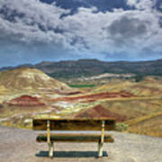 The Overlook At Painted Hills In Oregon Poster