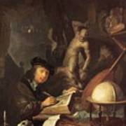 The Painter In His Workshop 1647 Poster