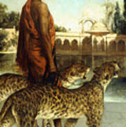 The Palace Guard With Two Leopards Poster