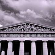 The Parthenon In Nashville Tennessee Black And White Poster