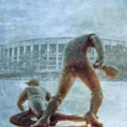 The Phillies At Veterans Stadium Poster