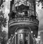 The Pickle Barrel 3 B W Flatiron Architecture Chattanooga Tennessee Art Poster