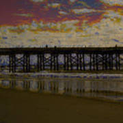 The Pier At Sunset Poster