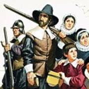 The Pilgrim Fathers Arrive In America Poster
