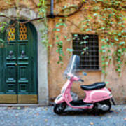 The Pink Vespa Poster