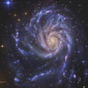 The Pinwheel Galaxy, Also Known As Ngc Poster
