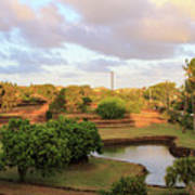 The Pond At Prince Kuhio Park Poster
