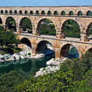 The Pont Du Gard Poster by Sami Sarkis