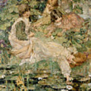 The Pool Poster by Edward Atkinson Hornel