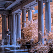 The Porch Of The European Collection Art Gallery At The Huntington Library In Infrared Poster
