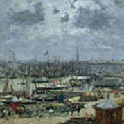 The Port Of Bordeaux Poster by Eugene Louis Boudin