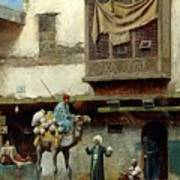 The Pottery Seller In Old City Poster