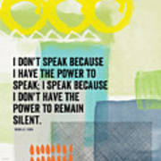 The Power To Speak- Contemporary Jewish Art By Linda Woods Poster