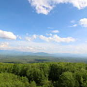The Presidential Range From The Watchtower At Weeks State Park Poster