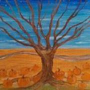 The Pumpkin Tree Poster by Dawn Vagts