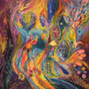 The Purple Rain Poster by Elena Kotliarker