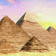 The Pyramids Of Giza Poster