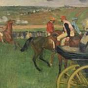 The Race Course Poster by Edgar Degas