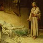 The Raising Of Jairus's Daughter Poster by George Percy Jacomb-Hood