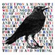 The Raven Poem Art Print Poster