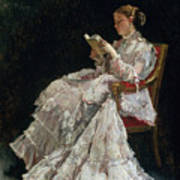 The Reader Poster by Alfred Emile Stevens