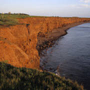 The Red Cliffs Of Prince Edward Island Poster