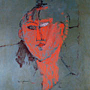 The Red Head Poster by Amedeo Modigliani