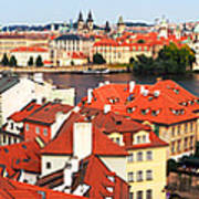 The Red Tile Roofs Of Prague Poster