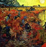 The Red Vineyard At Arles Poster