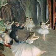 The Rehearsal Of The Ballet On Stage Poster