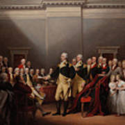 The Resignation Of General George Washington Poster
