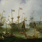 The Return To Amsterdam Of The Second Expedition To The East Indies Poster