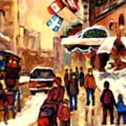 The Ritz Carlton Montreal Streetscene Poster