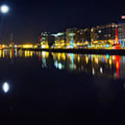 The River Liffey Night Romance Poster