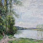 The Riverside Road From Veneux  Poster