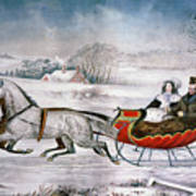 The Road-winter, 1853 Poster