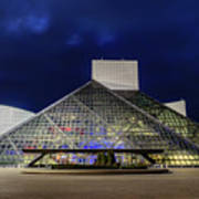 The Rock And Roll Hall Of Fame At Dusk Poster