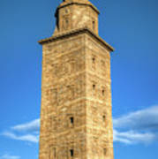 The Roman Lighthouse Known As Tower Of Hercules Poster