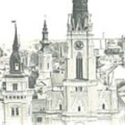 The Roofs Of Novi Sad Poster