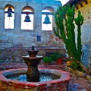 The Sacred Garden Of Mission San Juan Capistrano California Poster
