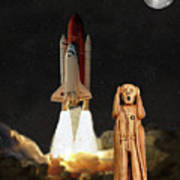 The Scream World Tour Space Shuttle Lift Off Poster by Eric Kempson