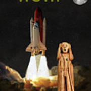 The Scream World Tour Space Shuttle Wow Poster by Eric Kempson