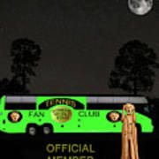 The Scream World Tour Tennis Tour Bus Poster by Eric Kempson