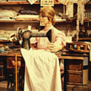 The Seamstress At Work Poster