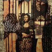 The Secrets Of Mona Lisa Poster by Michael Kulick