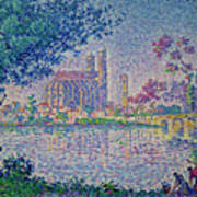 The Seine At Mantes, By Paul Signac, 1899-1900, Kroller-muller M Poster