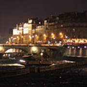 The Seine At Night Poster